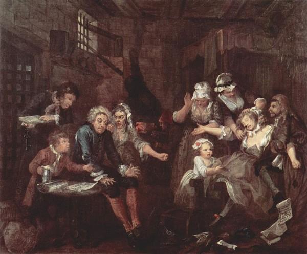 William Hogarth: A Rake's Progress 7.
