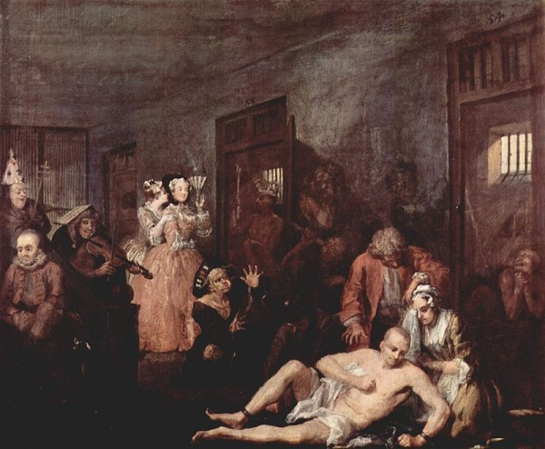 William Hogarth: A Rake's Progress 8.