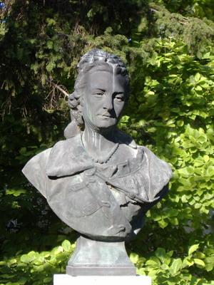 Hollósy Kornélia szobra Makón (Fotó: Burrows)