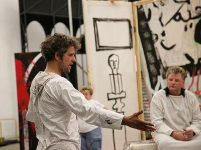 Schlingensief rendezés közben (Parsifal, Bayreuth, 2006)