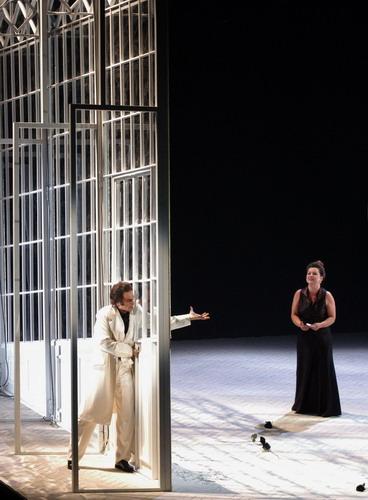 Káldi Kiss Andrással az opera zárójelenetében (Fotó: Éder Vera)