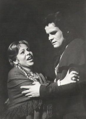 Kalmár Magdával a Carmenben (Fotó: Mezey Béla)