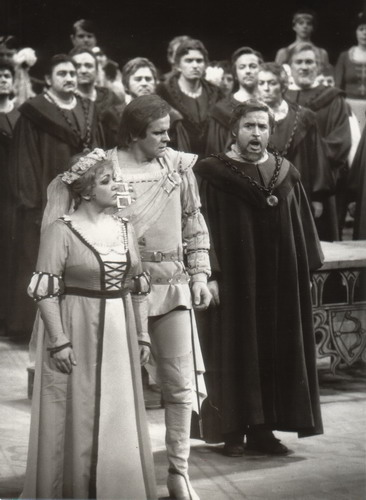 Mesterdalnokok Kincses Veronikával és Sólyom-Nagy Sándorral 1986-ban (Fotó: Mezey Béla)