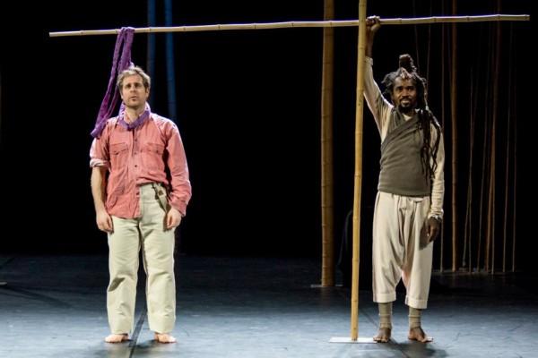 Papageno és egy színész: Virgile Frannais és Abdou Ouologuem