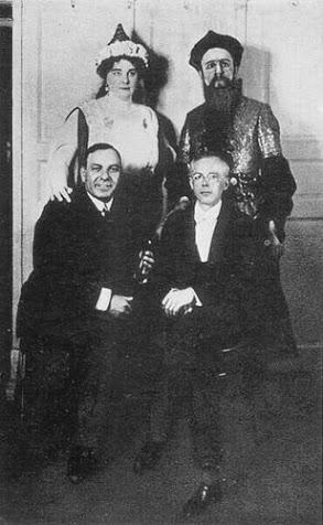 Haselbeck Olga, Kálmán Oszkár, Zádor Dezső és Bartók Béla