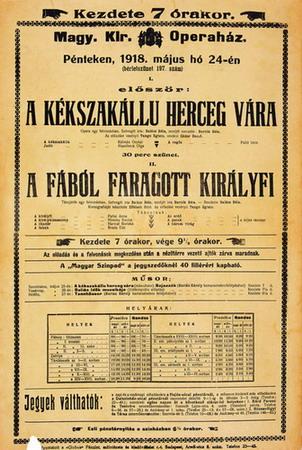 A Kékszakállú-bemutató plakátja