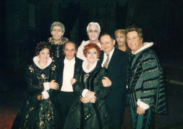 Don Carlos (Tokody Ilona, Budai Lívia, Mikó András, Ilosfalvy Róbert, Begányi Ferenc és Polgár László társaságában)