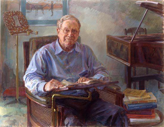 Sir Charles Mackerras egy festményen