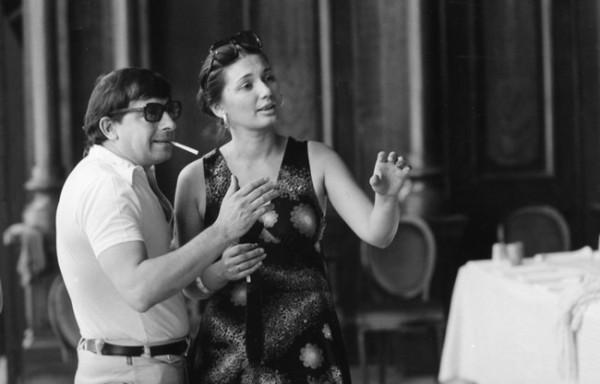 Jorge Lavellivel az Aix-en-Provence-i Traviata próbáján