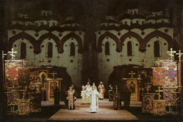 Forray Gábor Borisz Godunov-díszlete 1976-ból