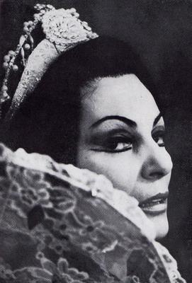 Szőnyi Olga Marina szerepében, 1978 (Fotó: Fejes László)