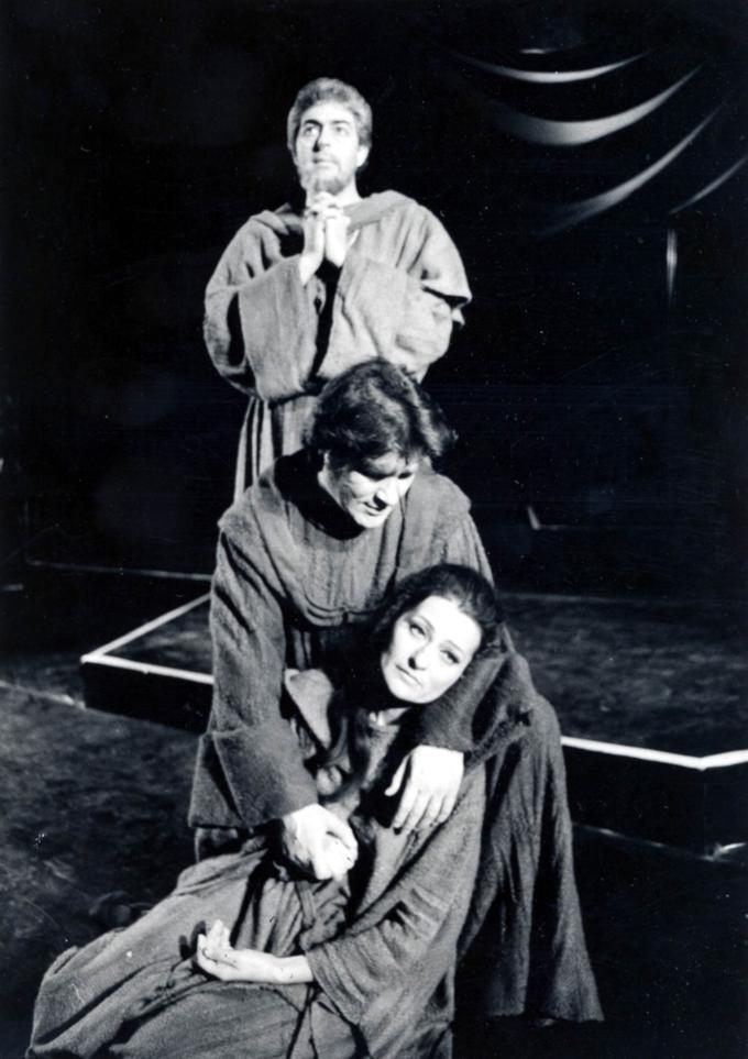 Kelen Péterrel és Polgár Lászlóval 1990-ben (Fotó: Mezey Béla)