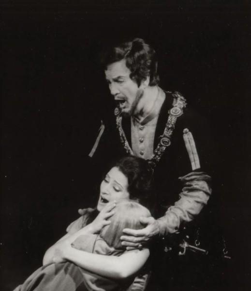 Bánk bán szerepében Tokody Ilonával (fotó: Magyar Állami Operaház)