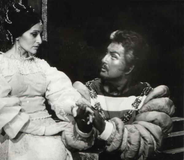 Otello Ilosfalvy Róberttel 1983-ban (Fotó: Mezey Béla)