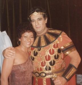Aida Domingóval Budapesten - 1987