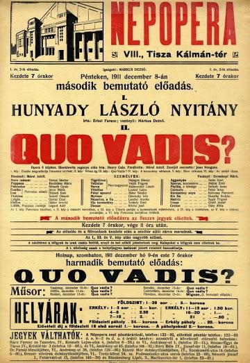 Az 1911. december 8-i est plakátja