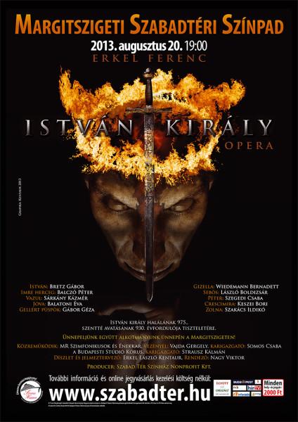 Erkel: István király - a margitszigeti előadás plakátja