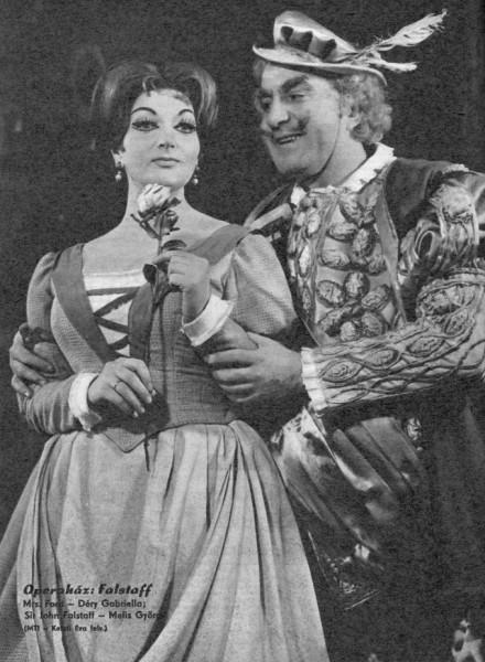 Ford Alice szerepében Melis György Falstaffjának partnereként