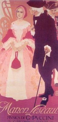 A Manon Lescaut plakátja