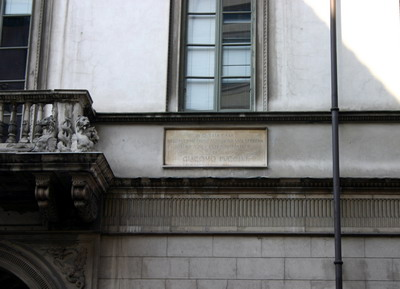 Puccini milánói háza a Via Verdin