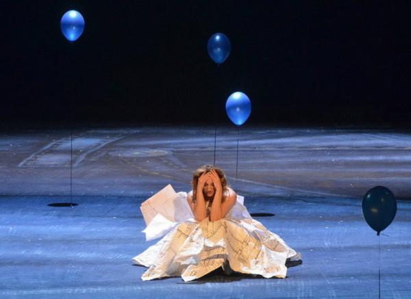 Silviaként az Ascanio Albában című Mozart-operában (fotó: Éder Vera)