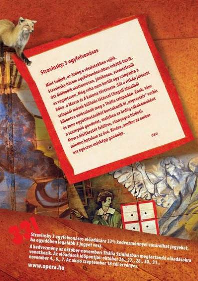 A Sztravinszkij-egyfelvonásosok plakátja