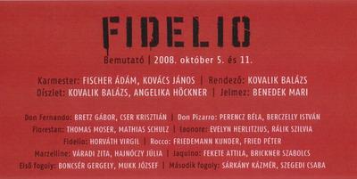 Fidelio-plakát