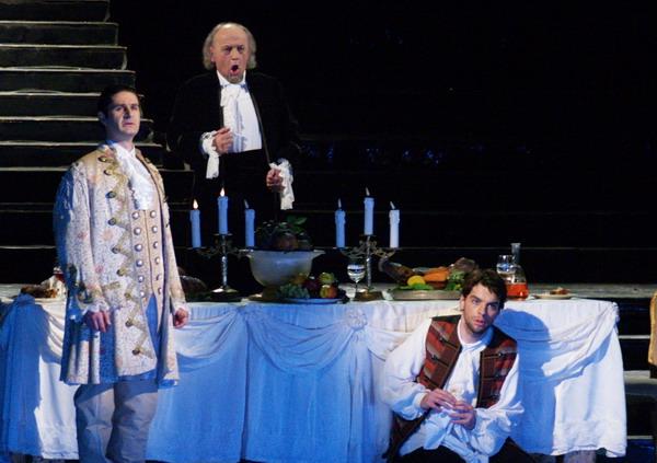 Kovács István, Kováts Kolos és Bretz Gábor a Don Giovanni fináléjában (Fotó: Éder Vera)