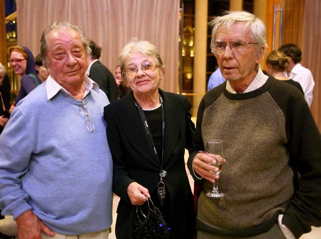 Makk  Károly, Törőcsik Mari és Maár Gyula a fogadáson