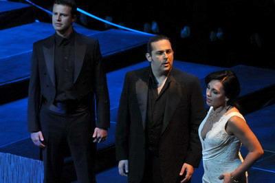 Dejan Vacskov, Frank Porretta és Rost Andrea (fotó: Pető Zsuzsa)