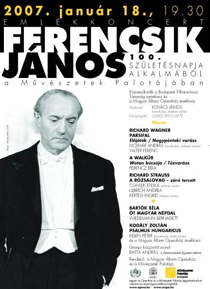 Ferencsik 100-plakat