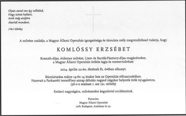 Komlóssy-temetés