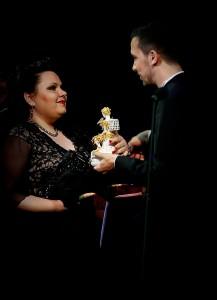 Fodor Bernadett a díjátadón (fotó: Pálffy Barbara)