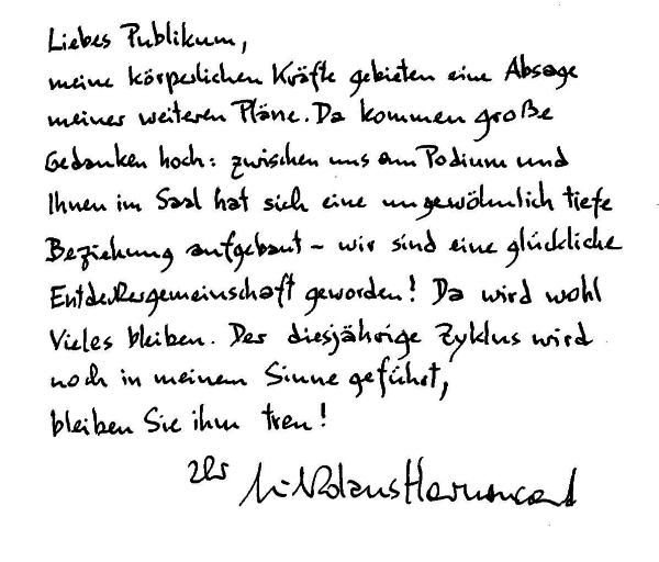 Nikolaus Harnoncourt levele