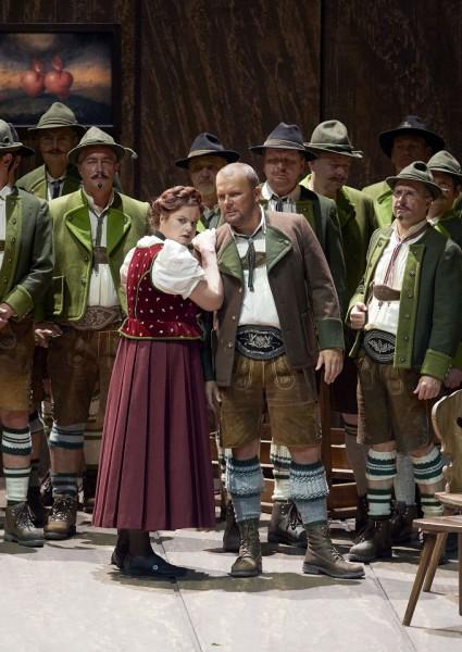 Ortrud és Telramund: Petra Lang és Tomasz Konieczny (fotó: Michael Pöhn / Wiener Staatsoper)