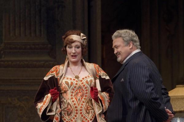 Sarah Connolly (Clairon) és Peter Rose (La Roche)