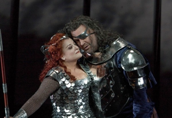 Brünnhilde és Wotan: Deborah Voigt és Bryn Terfel (fotó: Ken Howard)
