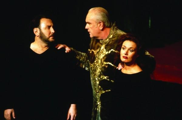 Jon Fredric West, Kurt Moll és Waltraud Meier az 1998-as premieren