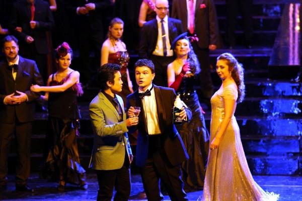 Violetta, Alfred és Gaston: Anna Lichorowicz, Sang-Jun Lee és Łukasz Gaj
