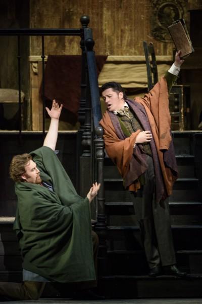 Marcello és Rodolfo: Molnár Levente és Piotr Beczała (fotó: Bill Cooper / Royal Opera House)