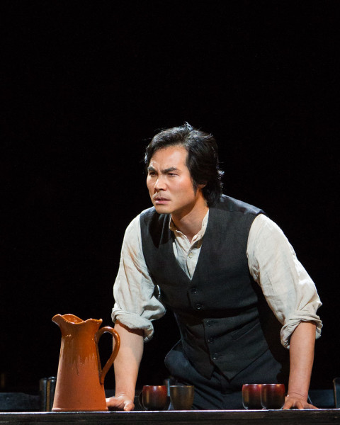 Turiddu: Lee Yonghoon (fotó: Marty Sohl / Metropolitan Opera